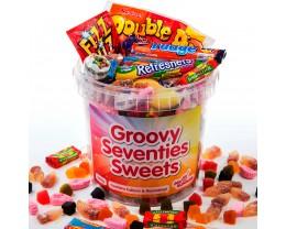 1970s Sweets Hamper - Groovy Seventies Sweets Bucket