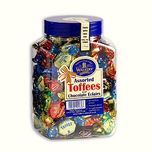 Assorted Toffees & Chocolate Eclaires Jar