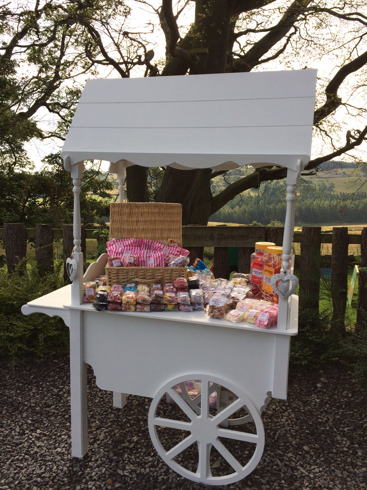 Sweet Cart at an outside event