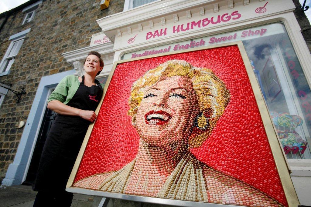 Marilyn Monroe Jelly Bean Mosaic